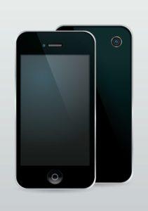 schwarzes smartphone display